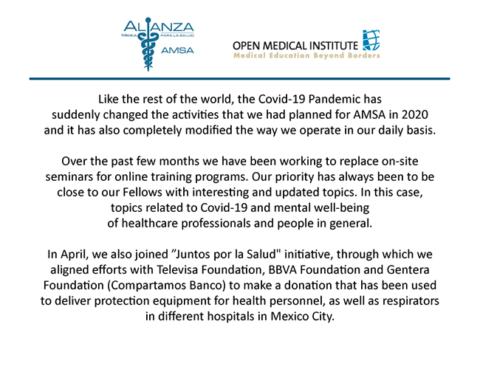 Newsletter April – June 2020