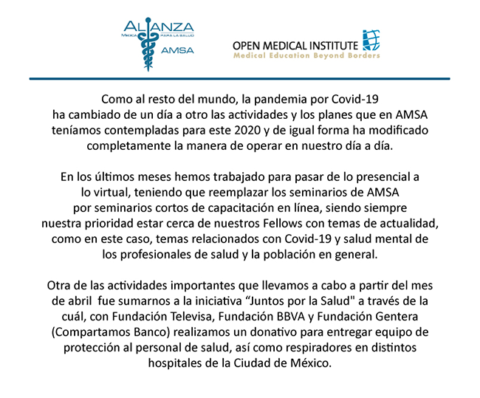 Newsletter Abril – Junio 2020