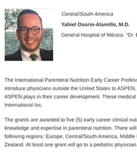 Beca Dr. Yahiel Osorio-Alamillo